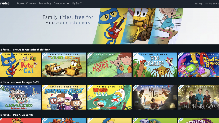 Amazon Prime Video is streaming kids movies and TV for free, no Prime membership required