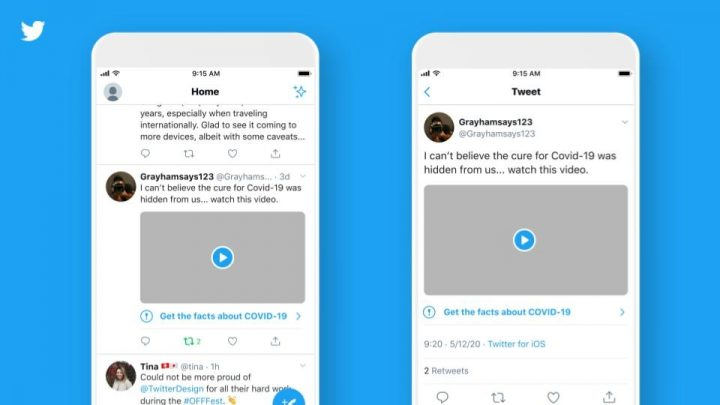 Twitter to add labels and warning messages to disputed and misleading COVID-19 info