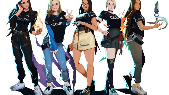 Cloud9 adds the MAJKL Valorant roster to create Cloud9 White as its first women's esports team
